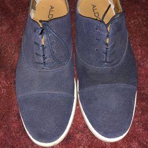Blue Suede Aldo Dress Shoes